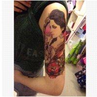 beautiful rose tattoos - BT Beautiful girl rose temporary tatoo waterproof temporary body art tattoos arms