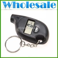 Wholesale Digital Car LCD Tyre Tire Pressure Gauge Keychain lots100