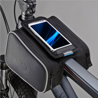 Wholesale Waterproof Cycling Front Frame Bag Touch Screen Bike Pannier Bicycle Double Phone Pouch for in Cellphone