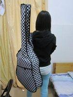 Wholesale 40 black white grid Acoustic Classical Guitar Bag Guitar Parts musical instruments
