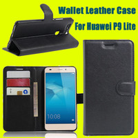 Cheap For Huawei P9 Lite Photoframe Wallet Leather Case Cover With Credit Card Slot Money Pocket Flip Photo Frame Stand DHL SCA154