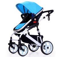 Wholesale Wo aluminum alloy baby carriage winter and summer large four wheeled stroller high landscape children s cart can sit can lie down