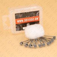 Новые Клэптон катушки Шипы хлопка, импортируемых из США для Sbutank Mini tfv4 Simba RDA RTA Atomizer DIY прекомпилированное Coil