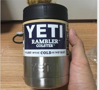Wholesale 12 oz Yeti Vacuum Insulated Rambler Colster Insulated Cup Mug Drink Holder Insulated Koozie Stainless Steel AAAA QUALITY STOCK DHL FREE