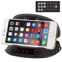 battery tuner - Retail Bluetooth Car Kit Hands free FM Transmitter USB Port Charger MP3 Player Speaker With Battery TF Card Mobile Phone Holder BT8128