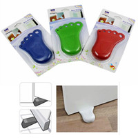 Wholesale 1pcs Foot Design Door Stop Wedge Jammer Doorstop Stopper Home Decor Kids Baby