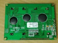 Wholesale 12864 x64 Graphic LCD Display module green back lcd display module lcd character display module