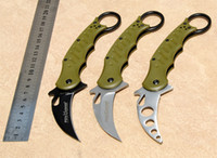 abs trainer - 3 Styles Fox Karambit Promotion C Steel ABS Green Handle Kuku Hanuman Trainer TK Folding Combat Knife F363E