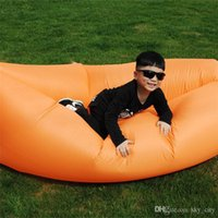 Wholesale DHL inflatable Air sleeping hangout bag DIY Air Bed Inflatable Lounger Lay s Bag travelling camping laybag inflatable air