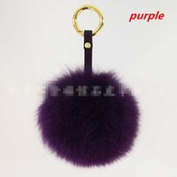 Wholesale 2016110138 Charm Bag Real Raccoon Fur Pom Accessories Chain Mixed Colors Big Size Ball Bag Accessories Keychain Fur