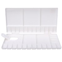 artist tool box - High Quality Flip Folding Art Paint Tray Paint Palette Pigment Box Artist Oil Watercolor Plastic Palette Supply Paint Tools