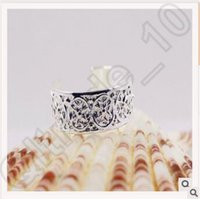 Wholesale High Quality Women Toe Rings Vintage Carved Band Rings Antique Silver Open Cuff Ring Summer Beach Retro Style Foot Jewelry CCA4669