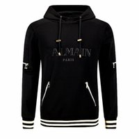 Wholesale 2016 Mens Balmain High quality Autumn Winter male plus size fashion sport jacket Casual with hood male skulls tracksuit B843 M XXL