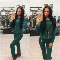 Wholesale Women Sport Suits New Fashion Solid Casual Women s Tracksuit Set Feminino Sportsuit Two Piece set S XXL