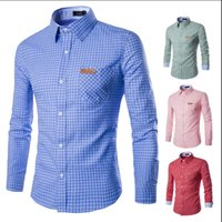 best flannel shirts - 2016 best selling men s shirts The man s flannel plaid shirt Leisure long sleeved shirt color size M xl