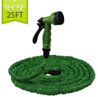 Wholesale High quality Magic Expandable Garden hose reels Stretch M watering FT Green Water Hose Spray Gun