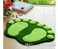 Wholesale Memory Foam Bathroom Mats Soft Non Slip Bath Mat Coral Velvet Bath Rugs Free Shiping