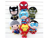 avenger anime - Plush Toys Dolls Marvel s the Avenger Cute Batman Spiderman Captain America Hawkeye Thor Superman Hulk Set Stuffed Toys