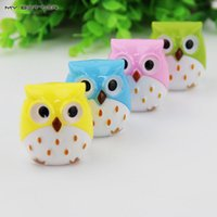 Wholesale 1 X Random Color Mini Kawaii Funny Owl Pencil Sharpener Cutter Knife School Student Stationery Supplies