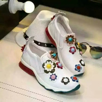women footwear - 2016 Fall winter womens latest new casual flate shoes fashion footwear with flowers comfortable footwears for women high quality hot sell