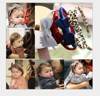 accessories shoot - 13 CM Leopard gingham bow casual girl hair sticks Children s Hair Accessories Neonatal headflower Beach shooting props E176