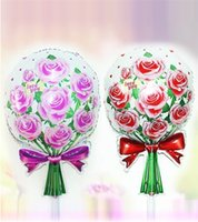 aluminum foil rose - Foil Balloons Party Decoration x41cm Red Purple Rose Balloons Aluminum Film Foil Balloon Wedding Birthday Party Supplies