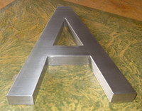 Wholesale Custom sign metal stainless steel brushed finish letter number logo outdoor signage