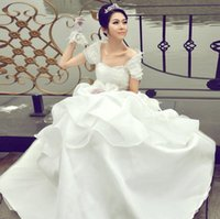 Wholesale 2016 sweetheart custom ivory white wedding dress beach wedding dress lace a summer wedding dress embroidered decoration