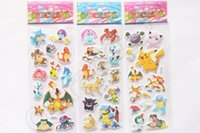 baby gifts flash - Poke Go Sticker Pikachu Flash D Foam Cartoon Toys Fashion Gift For Children Baby Reward cartoon anime Decoration OOA603