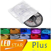 Wholesale 2835 Led Strips Light Warm White Red Green Blue RGB Flexible M Roll Leds V outdoor Ribbon Light Waterproof