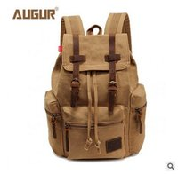 backpacks computer bag - Foreign trade canvas bag fashion casual bag computer backpack students leisure bag Adjustable shoulder strap High quality metal buckle