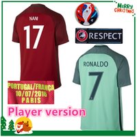Wholesale Player version RONALDO PEPE Home Red Soccer Jerseys Shirt F COENTRAO Football Jersey J MOUTINHO MIGUEL Soccer Wear