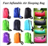 Wholesale Different colors Hangout Sofa Fast Inflatable Air Lazy Sleeping Bag Camping Lay Bed Storage Bag Outdoor Gear