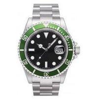 automatic movement swiss watch - Mens automatic watch luxury swiss men watches automatic movement mechanical green bezel date dive wristwatch R02