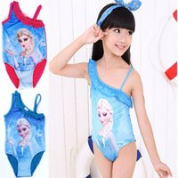 Wholesale Swimwear girls swim wear suit Children s Beach Supplies Girls condole swimsuit frozen Kids cartoon Baby Kids Maternity