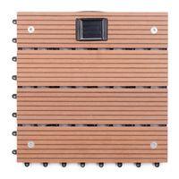 Wholesale Outdoor wood floor Courtyard garden wood plastic materials Solar luminous floor Anticorrosive DIY floor