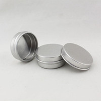 Wholesale Blank Round Metal Survival Kit Tins aluminum lip balm container H210572
