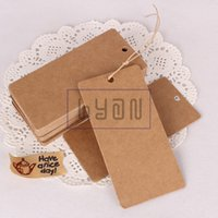 Wholesale Blank Kraft Cloth Hangtags with Paper Ropes DIY Cardboard Gift Hang tags Price Labels cm