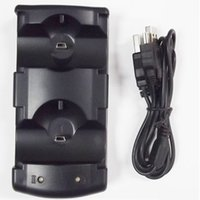 Wholesale USB Dual Charger Charging Dock Station charger cradle for PlayStation PS3 Move Controller