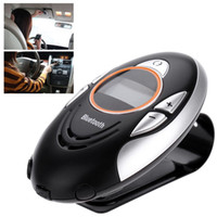 Wholesale Handsfree Wireless Mini Car Vehicle Mounted Portable Bluetooth Speakerphone Receiver Kit Clip for iPhone Samsung HTC BT8110