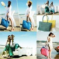 Wholesale Large straw bag large beach bag Summer large grass vine bag