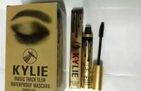 Wholesale DHL Kylie Jenner Mascara Magic thick slim waterproof mascara Black Eye Mascara Long Eyelash Charming eyes Cosmetic Gold Birthday Package