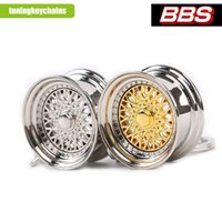 bbs rims - 3D Miniature BBS Wheel Rim Model Keychain Popular Creative Car Auto Metal Mini Wheel Rim Tyre Key Chain