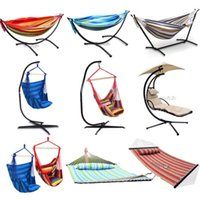 hammock stand - Hanging Rope Chair Steel Frame Stand Set Lounger Porch cm Length Double Hammock Swing Seat
