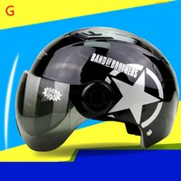 Wholesale 2016 Autumn Ultraviolet proof Unisex Motorcycle half Helmet V Stable and Impact resistance Design Practiacal Motorcycle Helmets