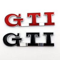 Wholesale 3D GTI Emblem Badge Metal Stickers on Cars for Volkswagen POLO Golf VW JETTA PASSAT MK5 MK6 Car Styling Accessories