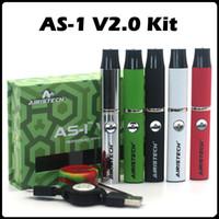 Wholesale Authentic Airistech AS V2 kit E Cigarette Kits Wax Pen Wax Vaporizer Pen Micro USB Charging Port Airistech Vaporizer