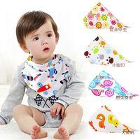 bib style apron - 28 Styles New kids Triangle Bibs Bandana burp cloths Baby Cotton kerchief infant Saliva Bibs Pinafore Apron Baby Feeding