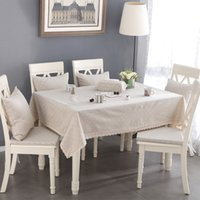 Wholesale Woven Dobby Linen Tablecloth High Quality Japan Stlye Table Cloth for Restaurant