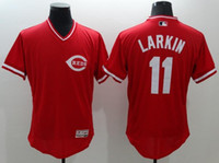 polyester mesh shorts - Men s Cincinnati Reds Throwback VINTAGE Baseball jersey Barry Larkin Pullover Mesh BP red Jersey